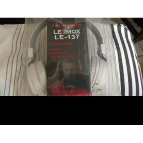 Fone Bluetooth Lemox Cartão Sd Radio E Bluetooth