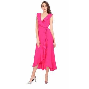 Vestido Asimetrico Rosa Fucsia Envio Gratis Dhl Express
