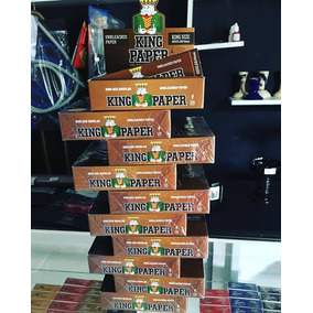 10 Caixa Fechada Seda Brown King Paper Grande Com 20 Cada