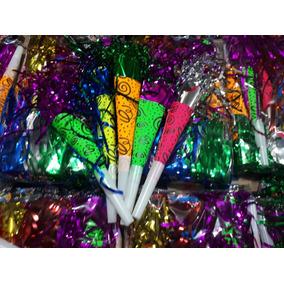 100 Cornetas Carton Neon Fiesta Batucada Evento Barato 43fcc87bd4e