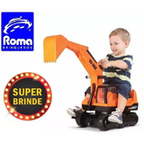 Mini Trator Escavadeira Gigante Infantil - Super Brinde