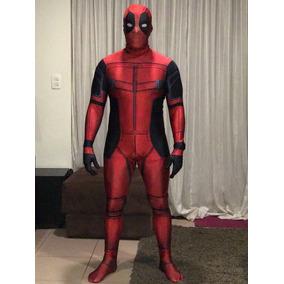 Fantasia Cosplay Deadpool Spandex Promoção De Carnaval