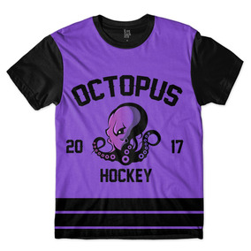 Camisa Camiseta Time Hockey Octopus Mascote Polvo Full Print · R  42 8d6ab8f4caa1a