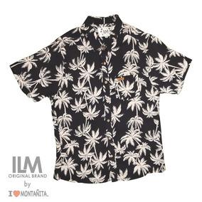 Camisas Hawaianas Palmeras Verano
