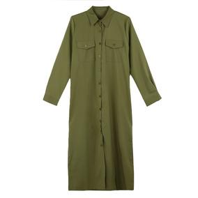 4f5678c24fe6 Precio. Publicidad. Nuevo Moda Mujeres Camisa Vestido Vez Abajo Collar Largo  Man