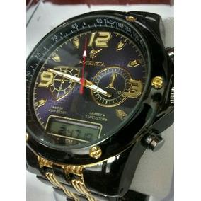 f9e50f68f53 Relógio Masculino De Luxo Ananógico E Digital Potenzia