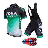 Conjunto Roupa Ciclismo Masculino Bretele Silicone E Gel 9d