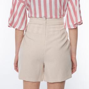 Shorts Saia Com Botões Na Lateral