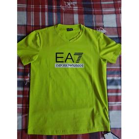 Playera Ea7 Emporio Armani Verde Lima - Talla M