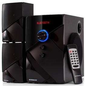 Home Theater 2.1 Sistema Som Portátil Bluetooth Mp3 Usb Fm