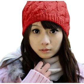 Touca Em Croche Vermelha Toucas - Acessórios da Moda no Mercado ... 3a5a1c8846e