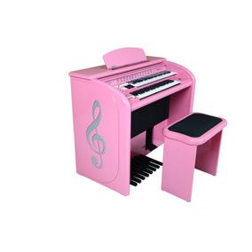 *orgão Eletrônico Top Elegance 2 D Acordes - Rosa*