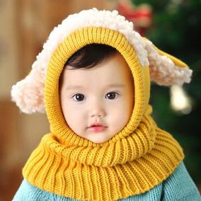 Gorros Bebe Frio Invierno Baby Niños Niñas Gorritos Bufanda