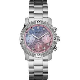 26002a65cff Relógio Feminino Guess Confetti W0774l1 Prata Rosa Original
