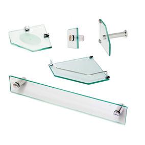 Acessorio Banheiro Kit Clean Em Vidro