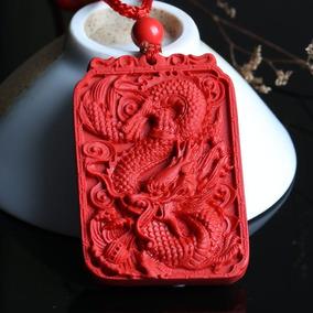 2x1 Dije Medallon Dragon Loong Labrado Con Cinabrio
