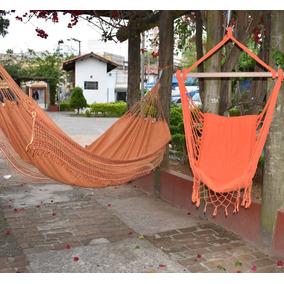 Kit 1 Rede Cadeira De Balanco E 1 Rede De Descanso Casal