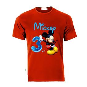 Playera Personalizada Mickey Mouse Todas Tallas Para Familia