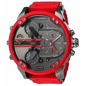814445cadec Relógio Pa938 Diesel Dz7370 100% Original Vermelho + Caixa