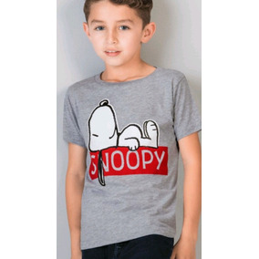 Playera Snoopy Gris Niño 1404852 Original And.fer