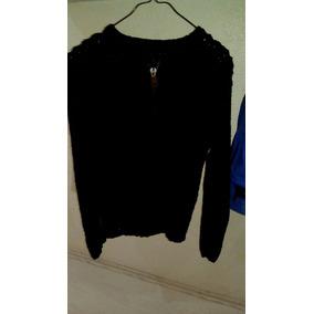 Suéter Sweater Tejido Azul Oscuro Para Dama Con Cierre