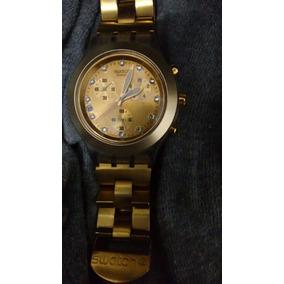 0f70d13cb0a Relógio Swatch Swiss Dourado - Relógios De Pulso no Mercado Livre Brasil