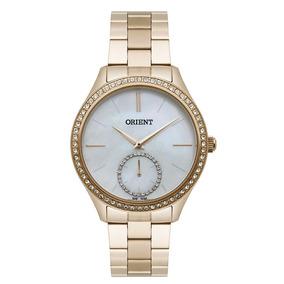b6e70296aa1 Relogio Orient Dourado Visor Madreperola - Relógios no Mercado Livre ...