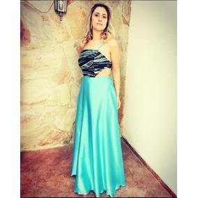 Vestidos de fiesta azul acero