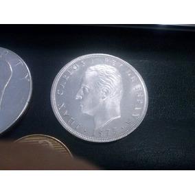 Moeda Espanha 100 Pesetas 1975 /prata /rei Juan Carlos Sob+