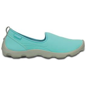Zapato Crocs Dama Duet Busy Day Skimmer Azul Claro