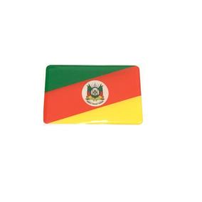 Adesivo Resinado Da Bandeira Do Rio Grande Sul 5 Cm Por 3 Cm