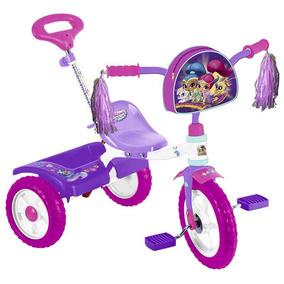 Triciclo Shimmer Y Shine R12 Con Barra De Empuje