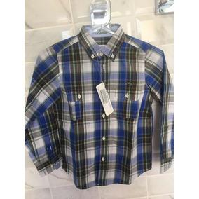 328e4e18b190c Camisa Lacoste - Camisa Manga Longa para Meninos no Mercado Livre Brasil