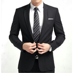 Terno Slim Masculino Oxford Blazer+ Calça+ Gravata+ Camisa