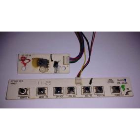 Placa Teclado De Funções Sensor Do Controle Tv Cce D32 Led