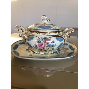Sopeira Com Presentoir Porcelana Dp Anos 60 Rara Impecável!
