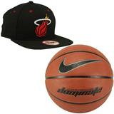 Bola Basquete Nike Dominate 7 Marrom+ Boné New Era Nba Heat e24de6b317347