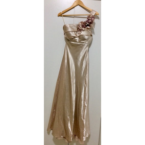 Vestido De Festa Longo - Balancê - Champagne - M 13839c18383