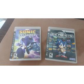 Jogo Ps3 Sonic Ultimate Genesis E Unleashed Semi Novos