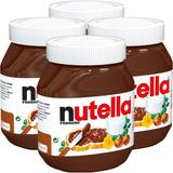 Nutella Gigante 4 Potes De 650g - Pronta Entrega