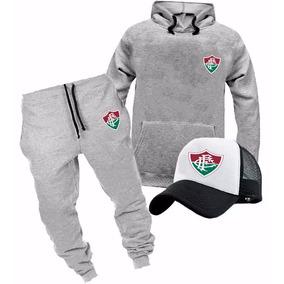cb5b14ac7ec7b Kit Moletom + Calça + Boné Fluminense Conjunto Promoção