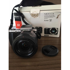 Câmera Sony Nex C-3 16.2 Megapixels Com Kit Lente Objetiva