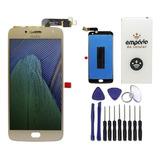 Tela Touch Screen Display Lcd Motorola Moto G5 Plus Dourado