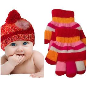 Conjunto De Lã Infantil Gorro E Par De Luvas De 2 A 3 Meses 31bba4ccf2c