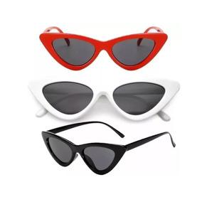 91ae8be8f3ba5 Óculos De Sol Feminino Retrô Gatinho Estiloso Proteção Uv