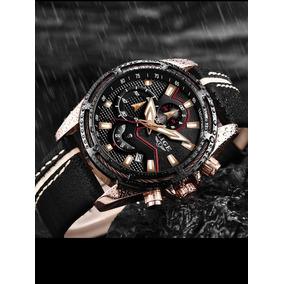 Relógio De Couro Original De Pulso Lige
