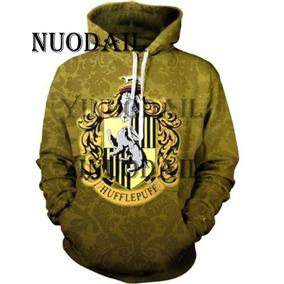 39b23f2f0 Blusa Moletom Canguru Full 3d Harry Potter Lufa-lufa Casa