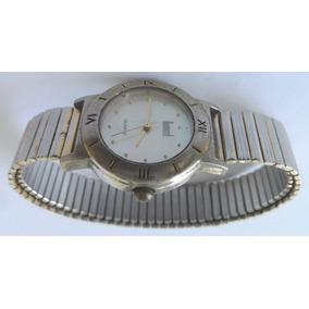 Relógio De Pulso Dumont Quartz Pulseira Elástica Antigo