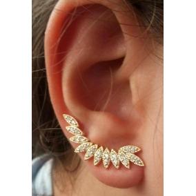 023ba7e8f8414 Brinco Ear Cuff Folhas Dourado. Semi Joia Folheada Ouro 18k