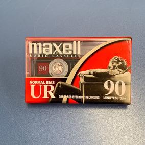 Fita Cassete K-7 Maxell Ur90 Audio Cassete Caixa C/10 Fitas